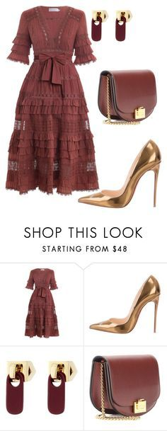 """""""style theory by Helia"""" by heliaamado on Polyvore featuring moda, Zimmermann, Christian Louboutin, Marc by Marc Jacobs e Victoria Beckham"""