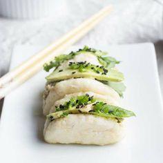 Dumpling Dip + Baos. Vegan tofu and kale dumplings, deconstructed.