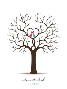 28.00$  Watch here - http://alit9r.shopchina.info/go.php?t=32366905785 - Canvas Wedding Fingerprint Tree Guest Book Alternative Love Birds Wedding Decoration Bridal Shower Baby Shower Party Supplies 28.00$ #aliexpress