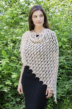 Nubes Shawl - free crochet pattern with chart by Elisabeth Davis de Herraiz at Cascade Yarns.