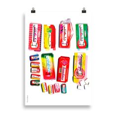 Chiclets Printed Cushions, Poster Making, Paper Weights, Giclee Print, Prints, Studio, Studios