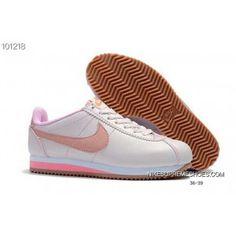 Nike Classic Cortez Nylon Leather Retro Women Running Shoes White Pink Top  Deals 922b0aa00b