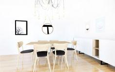 Apartamento Minimal – Comedor Apartamento de decoración minimalista con influencia nórdica. Para los acabados de este apartamento se han seleccionado colores claros, suel…