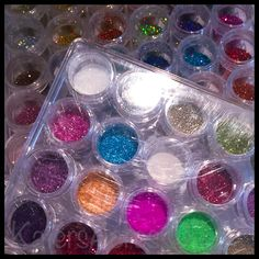 """Polymer Clay Glitter Storage Idea A Better Way to Store Your Glitter  Creative Glitter Storage Ideas Sometimes finding the """"perfect storage solution"""" is not an easy task. You try things that work and things that fail. Several years ago I purchased one set of these acrylic storage ..."""