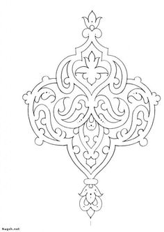 Flower Embroidery Patches Motif Lace Floral Applique Sewing Crafts for Clothing Design (Yellow) - Embroidery Design Guide Stencil Patterns, Stencil Designs, Pattern Art, Embroidery Patterns, Hand Embroidery, Islamic Motifs, Islamic Art Pattern, Persian Pattern, Persian Motifs