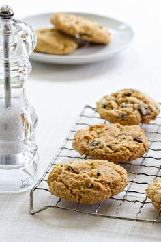 Salted Chocolate Chunk Cookies are a sweet and salty simple treat. So darn delicious!  Perfect dessert recipe for tucking into your work lunchbox and for summertime treats around the pool!