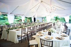 Classic and elegant reception decor and table settings.