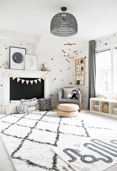 Monochrome Bedroom Ideas 2019 Miles Boho Monochrome Nursery Reveal — Winter Daisy Interiors for Baby Room Boy, Baby Bedroom, Baby Room Decor, Nursery Room, Home Decor Bedroom, Kids Bedroom, Boy Decor, Child Room, Bedroom Ideas