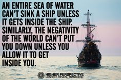 Stay positive and buoyant!