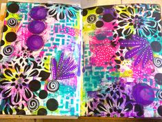 Dylusions paint art journal page | by Tr4cy1973