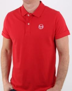 bcd8dd3b Sergio Tacchini Classic Polo Shirt Red Polo Shirts, Tennis, Track,  Trainers, Runway