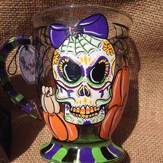 Halloween Sugar Skull Coffee Mug Sugar Skull by TheMADPainterVA
