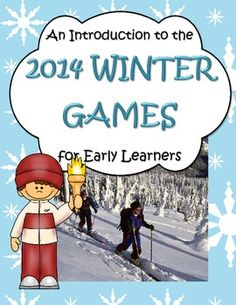 This is a large collection of activities, games and centers to introduce early learners - Pre-K, Kindergarten, and perhaps preschool and 1st grade, to the concept of the international Winter Olympic games, with lots of hands-on activities.  59 pages