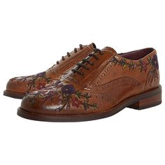 Bertie Fielder Embroidered Brogues | Tan at John Lewis