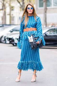 Anna Dello Russo - Street Style SS17 París Fashion Week - September 2016