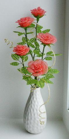 Розы | biser.info - всё о бисере и бисерном творчестве