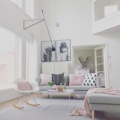 Pastel Living Room, Scandinavian Interior, Scandinavian Living, Living Room Inspiration, Decoration, Decorating Your Home, Family Room, Sweet Home, Shabby Chic