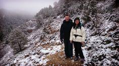 Ruth y Santiago en la ruta #aventurate de los Caños de #Gúdar ¡nuevos amigos!