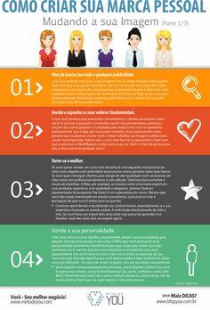 Acompanhe aqui no Blog nesta série de 3 infográficos especiais sobre 'Como Criar Sua Marca Pessoal'. Neste primeiro post sobre: 'Mudando sua Imagem'. Não esquece de deixar seus comentários abaixo,... Leia Mais