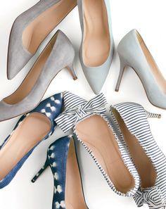 J.Crew women's Dulci kitten heels and Elsie pumps. To preorder call 800 261 7422 or email verypersonalstylist@jcrew.com.