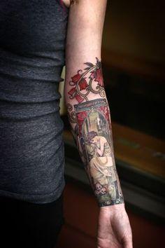 Much tattoo by Alice Kendall @ Wonderland Tattoo Portland, OR