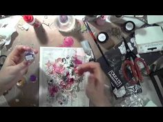 ▶ Beauty Mixed Media Canvas with Kasia Krzyminska on Live with - YouTube
