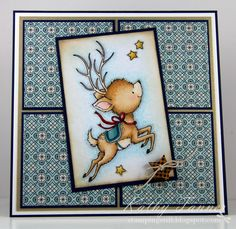 Stamping Still: Reindeer Flying