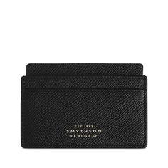 0195eb1612 Panama Card Holder in black calf leather