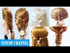 5 videos de peinados faciles y rapidos & trenzas faciles y bonitas (P10)   Peinado 2016 Yencop - YouTube