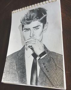 zac efron drawings drawing
