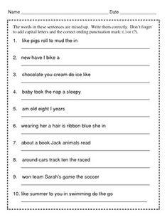 Simple Sentence Worksheet1 - esl-efl Worksheets - grade-1 Worksheets ...