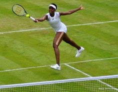 Venus Williams working her EleVen Strisce Break Back Dress at Wimbledon 2014