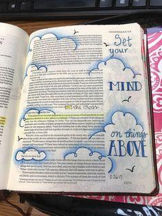 really easy but cute! ♡ on pinny, on insta ♡ Faith Bible, My Bible, Bible Art, Bible Scriptures, Bible Drawing, Bible Doodling, Art Journaling, Bible Study Journal, Bible Highlighting