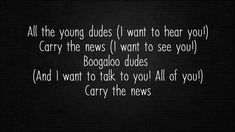 Mott The Hoople - All The Young Dudes (Lyrics)