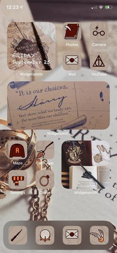 Harry Potter App, Harry Potter Tumblr, Iphone App Design, Iphone App Layout, Iphone Wallpaper App, Aesthetic Iphone Wallpaper, Ios Widgets, Apps, Harry Potter Wallpaper