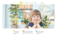 UMKA - Children & Kindergarten one page, Web Design Software, Kids Daycare, Education And Training, Creative Activities, First Page, Kids Education, Child Development, Psd Templates, Childcare