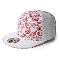 Bandana Print on Fitted Pro-Baseball Style Caps made from Acrylic Wool. All Red Nike Shoes, Red Bandana Shoes, Gucci T Shirt Mens, Chicago Bulls Outfit, Gangster Outfit, Bandana Blanket, Diy Cut Shirts, Bandana Design, Bandana Styles