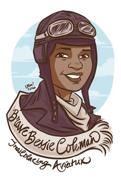 #100days100women Day 33: Bessie Coleman Chicago manicurist who dreamed of becoming an aviator after hearing the daring stories of pilots returning from the great war. With no place to study and no pilot willing to instruct her, she learned French and headed to France to get her license. She became a barnstorming pilot as well as a beauty shop owner to fund her dream of a pilots school for young black aviators.   https://en.wikipedia.org/wiki/Bessie_Coleman