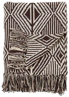 Jaipur Rugs Inc National Geometric By Jaipur Living Etosha Brown/White Geometric Throw 50 X 63 Casa Cook, Geometric Throws, Jaipur Rugs, Cotton Throws, Burke Decor, Decorative Throws, Decorative Items, Outdoor Throw Pillows, National Geographic