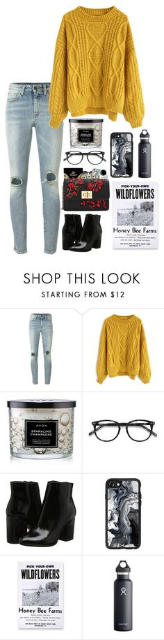 """""""This is so random"""" by kindaval ❤ liked on Polyvore featuring Yves Saint Laurent, Chicwish, Avon, EyeBuyDirect.com, Casetify, Three Potato Four and Hydro Flask"""