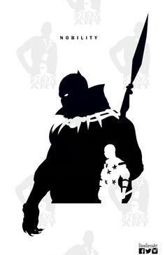 steve garcia silhouette black panther - Buscar con Google