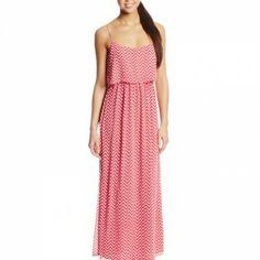 My Michelle Women's Chevron Maxi Dress with Layer $52.00