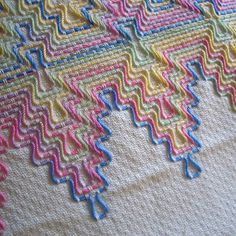 Aw, huckwork. #embroidery #diy #huckaback   Jenny Hart   Flickr