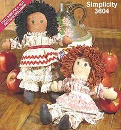 Pattern and Directions for an 'old' Simplicity Rag Doll