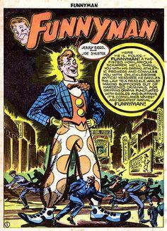 Comics On The Brain Siegel And Shuster After Superman A Look At Funnyman Comic Books Art Comic Books Comics
