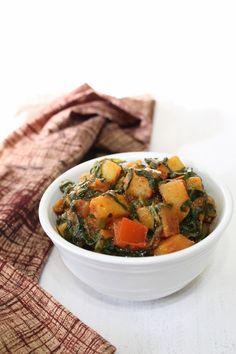 Aloo Palak ki Subzi Recipe   Dry spicy aloo palak recipe