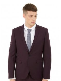 Sorry your search didn't match any products. Skinny Fit Suits, Burton Menswear, Casual Outfits, Fashion Outfits, Men Online, Mens Clothing Styles, Burgundy, Suit Jacket, Fitness