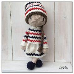Galna i Garn Knit Crochet, Crochet Hats, Baby Dolls, Teddy Bear, Sewing, Knitting, Toys, Animals, Amigurumi