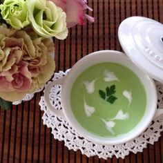 Green Pea Soup with Radishes