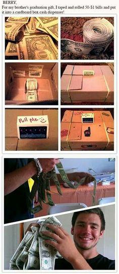 Cash dispenser gift idea